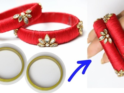 How to Reuse Old Bangles| Making Beautiful Silk Thread Bangles| Latest Silk thread with Bangles