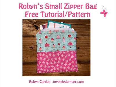 How to Sew a Simple Zipper Bag - Step by Step - Episode 697