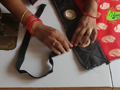 How To Stitch Hand Bag With Fabric At Home || How To Make Fabric Hand  For L