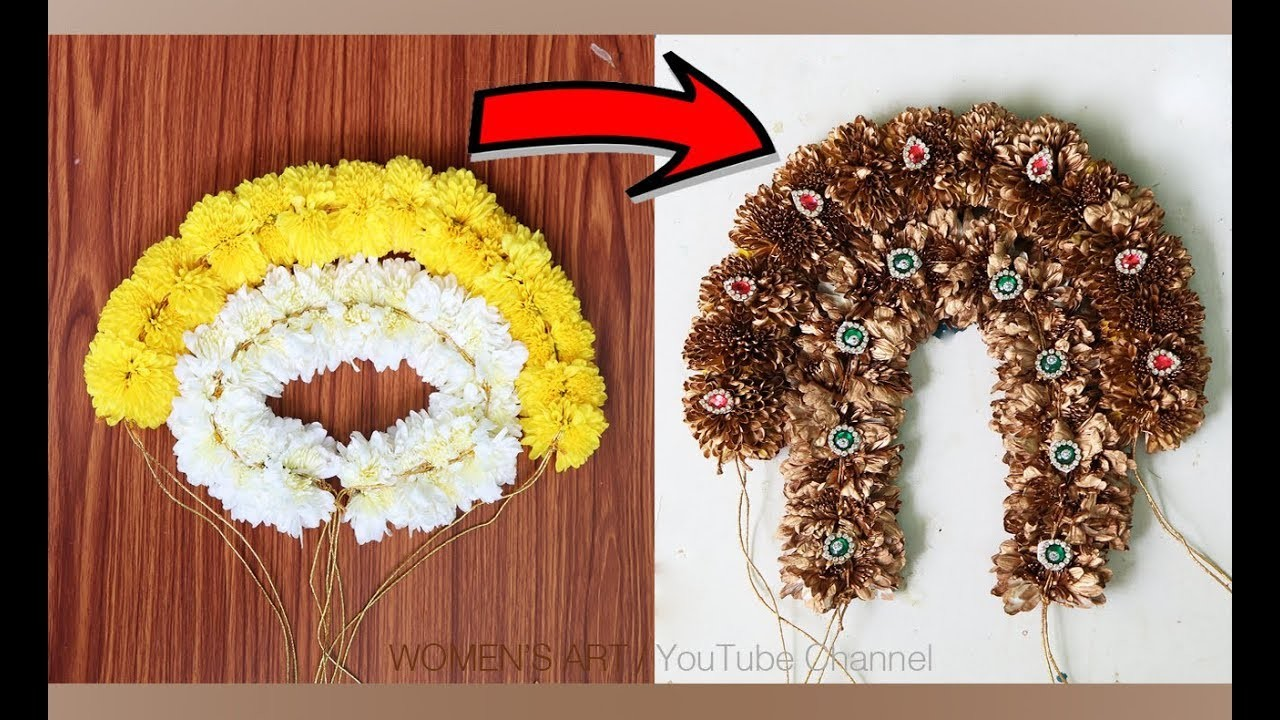 How to use spray paint for real flowers | gold spray paint on jadai veni