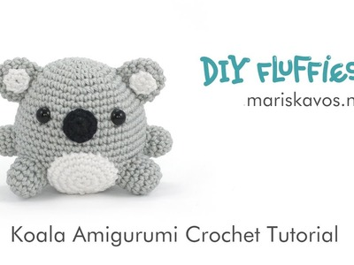 Kobi the Koala Amigurumi crochet toy Tutorial English