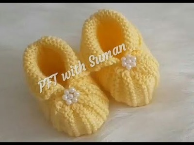 New Baby Booties knitting design.pattern #88 for beginners,cardigan, sweater, jacket ||in hindi||