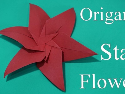 Origami Star Flower Crafts for kids with paper || How to make Star Flower  Craft ideas for kids