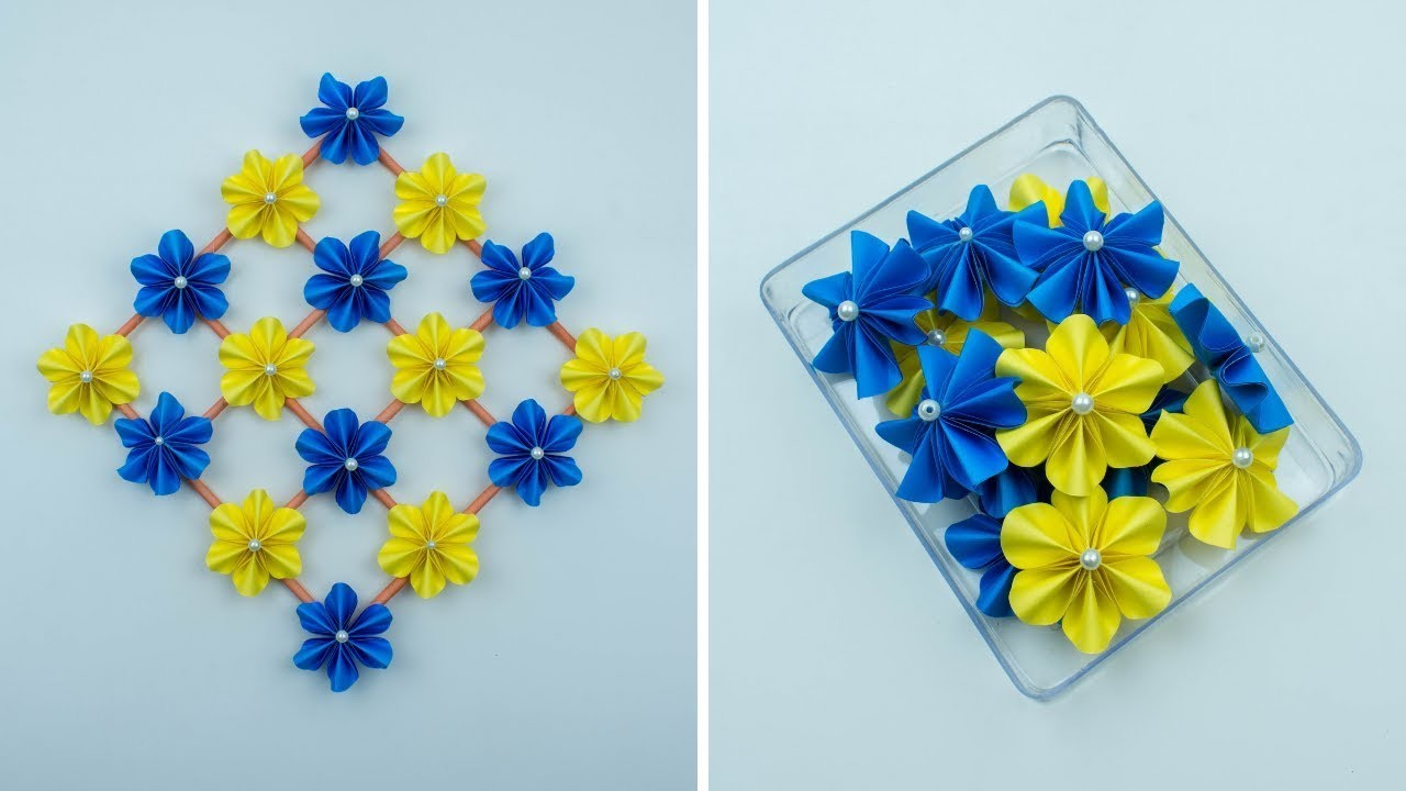Paper Flower Wall Decoration - How To Make Wall Decoration - Wall Hanging - DIY