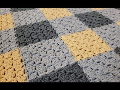 Part 1 - C2C Join as You Go Blanket Crochet Tutorial!