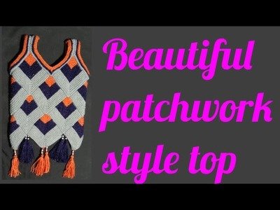 Patchwork style top knitting pattern