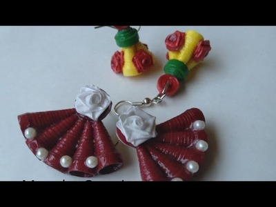 Quilling Earrings | Quilling Stud | How to make Paper Earrings | Trendy Earrings | Paper Quilling |