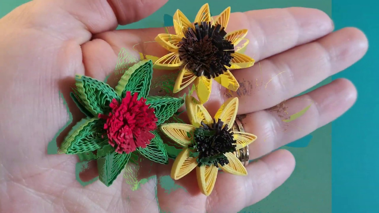 QUILLING FOR BEGINNERS. SUPER EASY QUILLED FLOWER TUTORIAL. DIY. FLOARE QUILLING