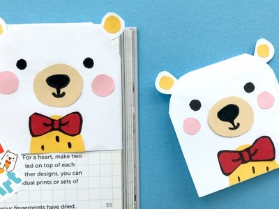 Red Ted Corner Bookmark How To - Easy Teddy Bear Bookmark DIY