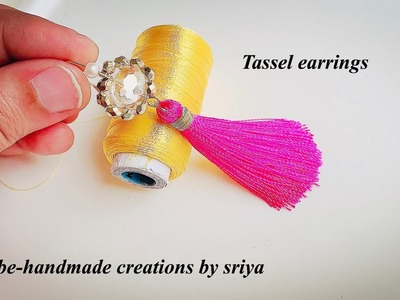 Tassel earrings | How to make silk thread Tassel earrings at home | Beautiful Pink Tassels|diy