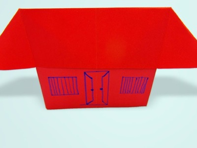 Wow ! beautiful paper house making | how to make a very easy way for school project work - DIY