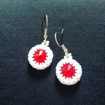 Handmade Japan Round Earrings Jewellery