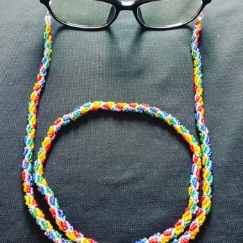 Handmade Spiral Colourful Rainbow Glasses Facemask Chain Jewellery