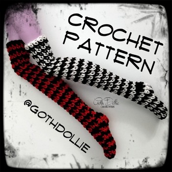 PATTERN: MHD Socks and Stockings in Various sizes by GothDollie