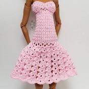 PATTERN: 17 inch EAH/MHD/BjD Cocktail Sundress Crochet Dress by GothDollie