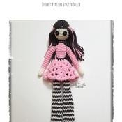 PATTERN: Amigurumi 12 - 16 inch (FLAT) Lankee Doll by GothDollie  *BODY IS FLAT