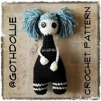 PATTERN: Amigurumi Bootyful Penny doll by GothDollie