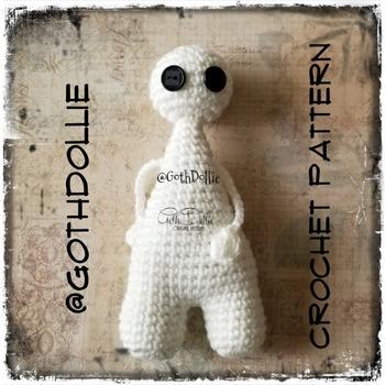 PATTERN: Amigurumi Bootyful Ghoulie doll by GothDollie