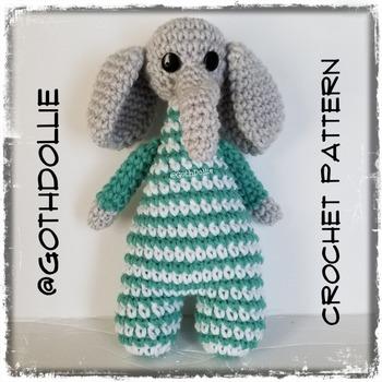 PATTERN: Amigurumi Bootyful Elephant doll by GothDollie