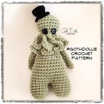 PATTERN: Amigurumi Bootyful Cthulhu doll by GothDollie