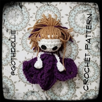 PATTERN: Amigurumi Princess Lovey Doll Crochet Pattern By GothDollie