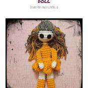 PATTERN: Amigurumi Small (FLAT) Lankee Doll by GothDollie