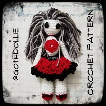 PATTERN: Amigurumi Witchii doll by GothDollie
