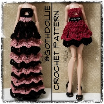 PATTERN: EAH Layered Party Dress/Gown by GothDollie