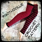 PATTERN: EAH Leg Warmers in Various sizes by GothDollie