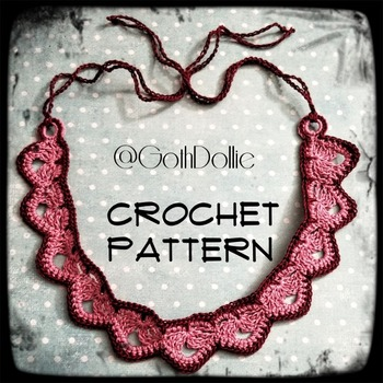 PATTERN: Edwardian Inspired Crochet Choker Necklace by GothDollie