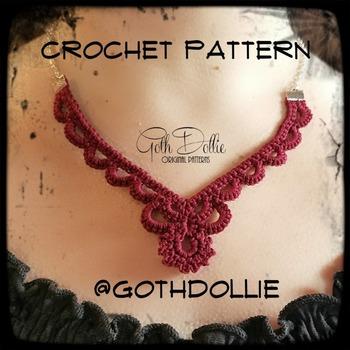 PATTERN: Filigree Crochet Necklace by GothDollie