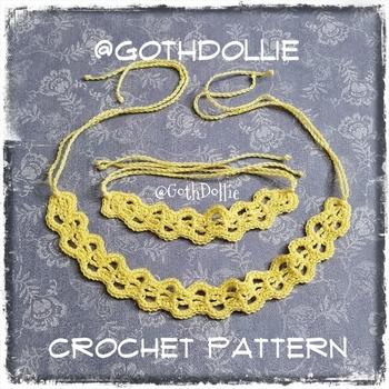 PATTERN: Filigree Crochet Bracelet, Choker or Wrap Bracelet by GothDollie