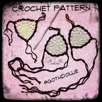 PATTERN: Filigree Crochet Slave Bracelet or Barefoot Sandals by GothDollie