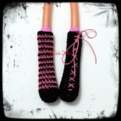 PATTERN: Lalaloopsy Girls Crochet Socks Stockings Boots Booties by GothDollie