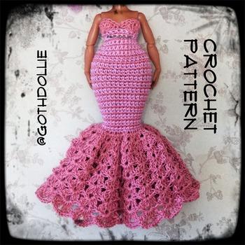 PATTERN: Lol Omg Doll Addy Crochet Gown Dress by GothDollie