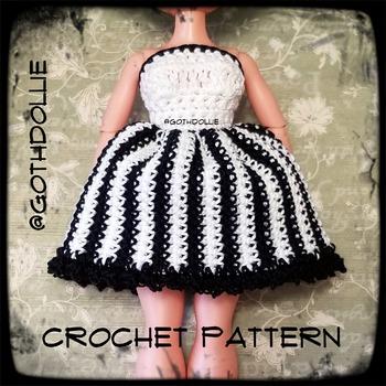 PATTERN: Lol Omg Doll Layla Dress Crochet Pattern by GothDollie