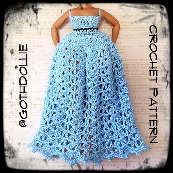 PATTERN: Lol Omg Doll Lilly Crochet Gown Dress by GothDollie