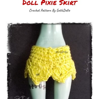 PATTERN: Monster Ever After High Pixie Skirt  by GothDollie