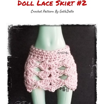 PATTERN: Monster Ever After High Lace Skirt #2 by GothDollie