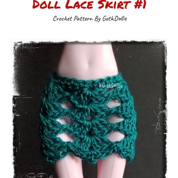 PATTERN: Monster Ever After High Lace Skirt #1 by GothDollie