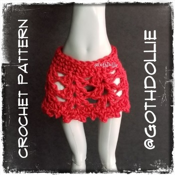 PATTERN: Monster Ever After High Fiesta Skirt by GothDollie