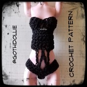 PATTERN: Monster High Swimsuit #3 by GothDollie