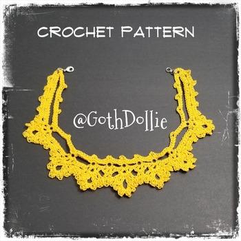 PATTERN: No1 Victorian Crochet Choker Necklace by GothDollie