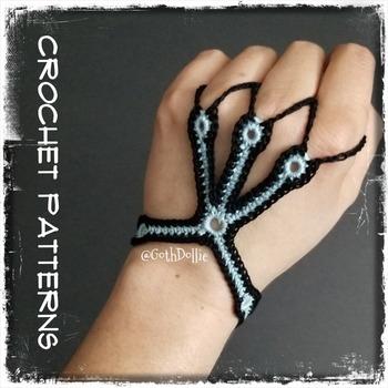 PATTERN: No3 Cyber Slave bracelet by GothDollie