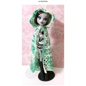 """PATTERN: Shawl, Cape, Cloak, Hood for MH/EAH/BJD and most 09"""" - 14""""  (1/6) dolls by GothDollie"""