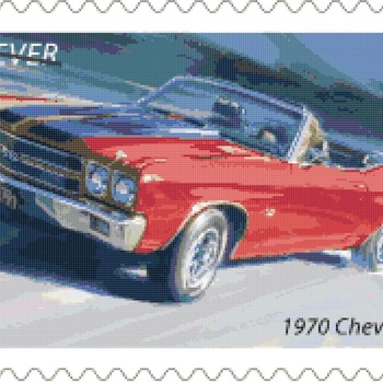 Counted Cross Stitch pattern muscle car chevelle SS 276 * 176 stitches CH2074
