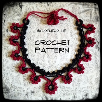 PATTERN: Harley Choker Necklace by GothDollie