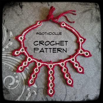 PATTERN: Peak Choker Necklace by GothDollie