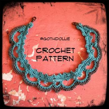 PATTERN: Prim Choker Necklace by GothDollie