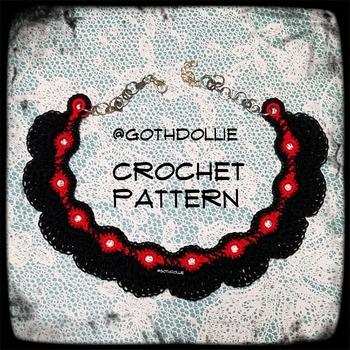 PATTERN: Rue Choker Necklace by GothDollie